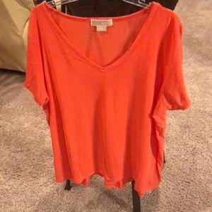Orange Michael Kors plus size sweater top